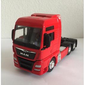 Miniatura Caminhão Man Tgx Trucada Vermelha 1:64