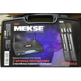 Kit Microfonos Inalambricos Vhf Mekse Mk-255/cs
