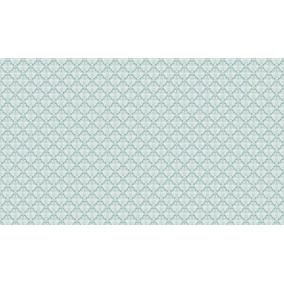 Tecido Karsten Wall Decor Farah Turquesa Rolo 6 Metros