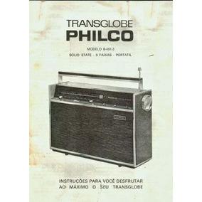 Esquema Philco Ford Transglobe B 481 Calibragem E Concerto