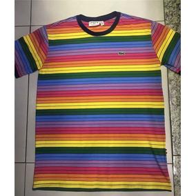Camisa Lacoste Arco Iris - Calçados, Roupas e Bolsas no Mercado ... 1b468a9508