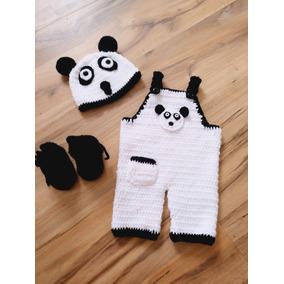 Urso Panda De Crochê Kit Contendo 3 Peças 82805f783f4