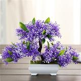 Suyunyuan Flowers 5 Color Artificial Bonsai Árbol Acogedor