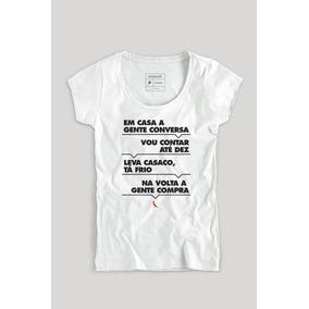 30b10a30b Camiseta Feminina Com Frases - Camisetas no Mercado Livre Brasil