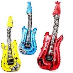 50 Globo Guitarra Inflable Fiesta Xv Años Batucada