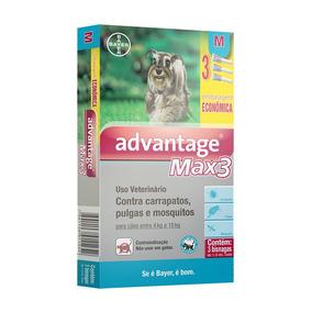 Antipulgas Bayer Advantage Max3 Combo Cães 4 A 10kg