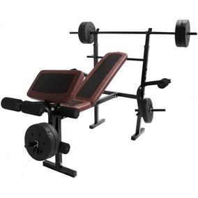 Banco Multiposiciones Gym Pesas Ejercicio Kit Discos Barra