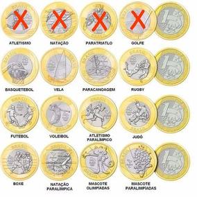 Moedas Olímpicas 2016 ** F C - Complete Sua Coleção