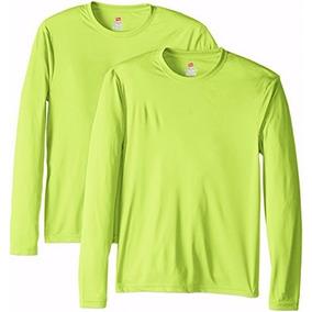 Pack De 2 Camisetas Marca Hanes Color Verde Talla Xl