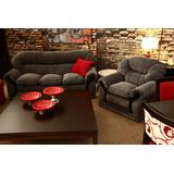 Sofa De Tres Cuerpos Tapizado En Chenille