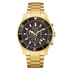 Relógio Bulova Masculino Cronógrafo Dourado Wb31774u