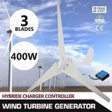 Turbina Eólica 400w Aerogenerador Rendimiento Controlador