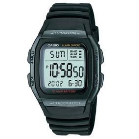 2961bb83bb9 Relógio Casio W-96h-1bv Preto Bateria 10anos Original W96