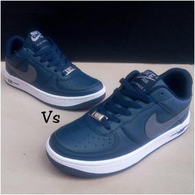 Zapatos Nike Air Force One Azul Para Damas 35 Al 40