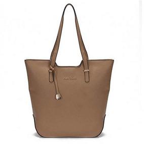 Bolsa Sacola Tote Bag Deluxe Alice Palucci Taupe Al1701