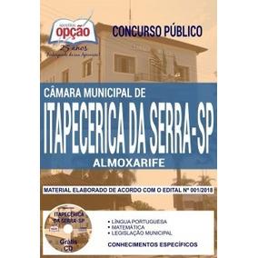 Apostila Câmara De Itapecerica Da Serra-sp 2018 - Almoxarife