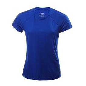 b7e8783caf475 Playera Asics Azul Asx Dry Correr Running Deportiva