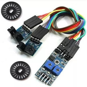 Sensor Duplo De Velocidade Infravermelho C/ 2 Discos Encoder