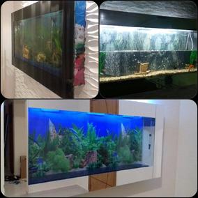 Aquario De Parede 140x15x65 Em 6mm Laminado Completo