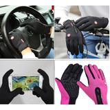 Luvas De Proteção Inverno Touch Screen Frio Vento Moto Bike