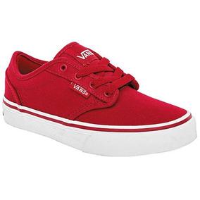 Bonitos Y Cómodos Tenis Casuales Vans Originales Color Rojo