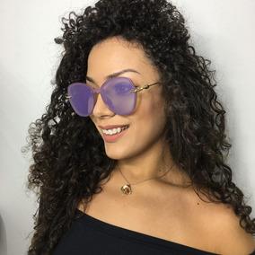 5bb654860c10a Oculos Redondo Lente Lilas De Sol - Óculos no Mercado Livre Brasil