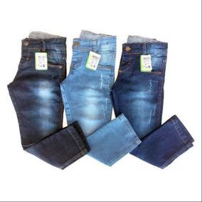 a973fecb6b Kit 4 Calça Jeans Infantil Marca Slim Skinny Casual Promoção