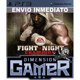 Fight Night Champion Ps3 Store Digital