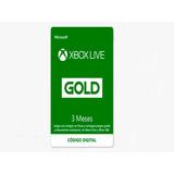 Xbox Live Gold 3 Meses - Codigo Digital - Webpay