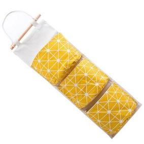 Yellow - 3 Rejillas De Pared Colgante Bolso Organizador-7480
