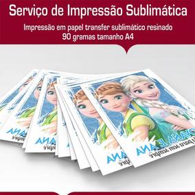 Serviço Impressão Sublimáticas Tamanho A4 - 70 Unidades