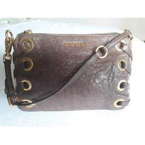 e77fa5537d530 Bolsa Miu Miu Original Usada - Bolsa de Couro Femininas, Usado no ...