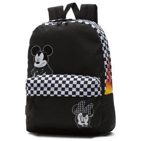 41505ab1ad2c2 Mochila Vans Checkerbo Disney Mickey 90 Flamas Look Trendy