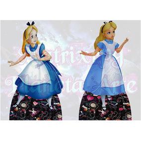 Alice No Pais Das Maravilhas Kit 10 Displays De 15cm Em Mdf
