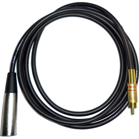 Cable Profesional Canon Xlr Macho A Rca Macho Dorado X 2 M