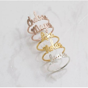 Anillo Personalizado De Acero Inoxidable Oro,plata Y Rosa