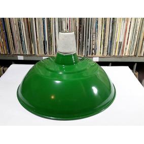 Luminaria Aluminio Industrial Agata Verde Para Decoração