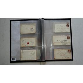 Coleção 42 Envelopes Todos C/ Selo One Penny Red 1841 A 1880
