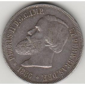 2000 Reis De Prata De 1886 Soberbo, Muito Rara