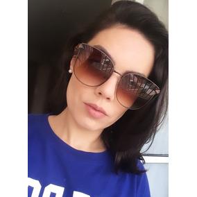 Oculos Feminino De Gatinho Marrom Degrade Sol - Óculos no Mercado ... 0c6cc56095