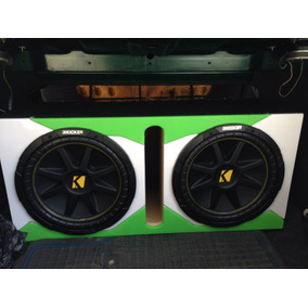 Bajos Kicker 12 Pulgadas Comp 500w + Planta Boss Ar3000w