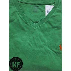 Camiseta Básica Gola V Ralph Lauren Original f7d87638e31