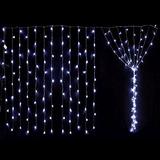 Lluvia De 200 Luces Blancas Led Cortina Navidad 2x2m Fiestas