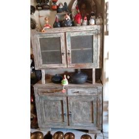 Armário De Cozinha Rustico Madeira De Demolição Antigo
