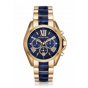 e9fcab00cb0c Reloj Para Dama Michael Kors Bradshaw Mk6488 Azul - Reloj de Pulsera ...