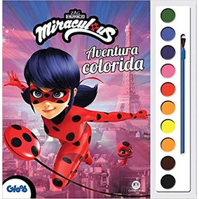 Livro Aquarela Ladybug Aventura Colorida