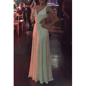 Vestido Branco De Formatura/casamento/eventos Bordado