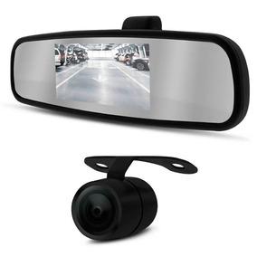 Kit Espelho Retrovisor Monitor Tela Lcd 4.3 + Câmera De Ré