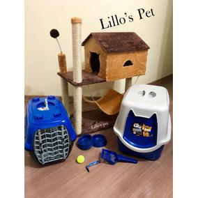 Arranhador De Gato +banheiro + Kit