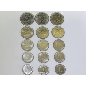 Moedas De 1, 5, 10, 20 E 50 Centavos De 1986, 1987 E 1988